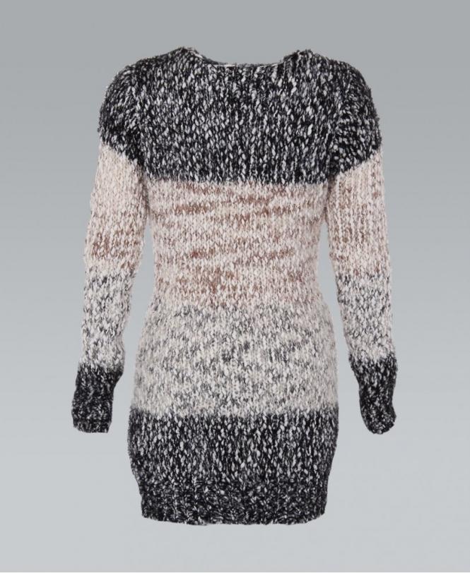 official price 100% quality double coupon KRISP Contrast Colour Eyelash Lurex Jumper Dress