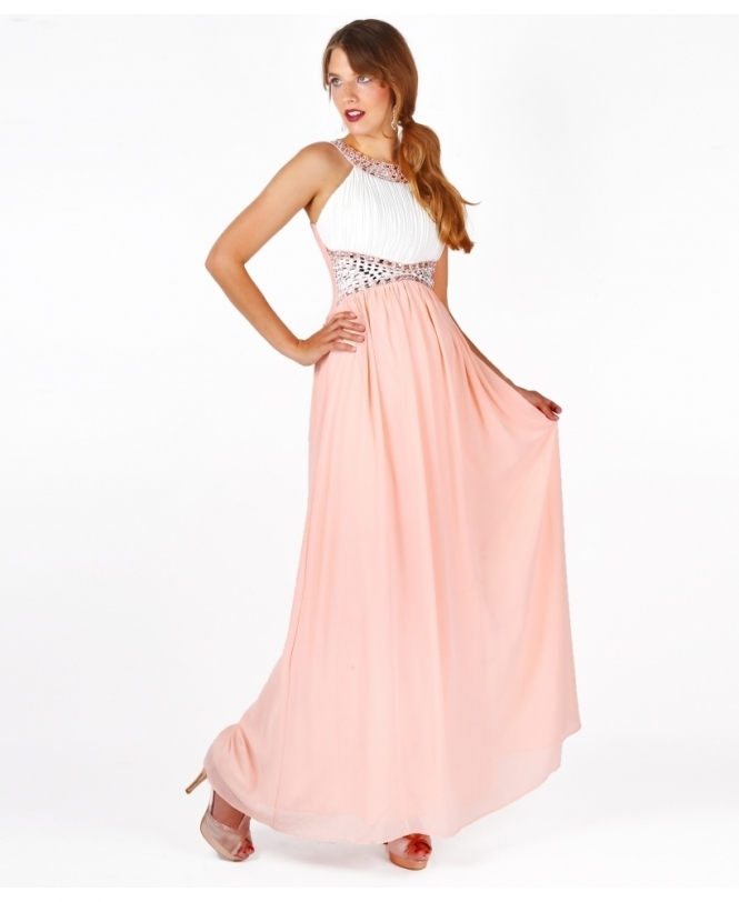 Prom Dresses | Contrast Diamante Prom Maxi Dress | KRISP
