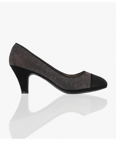 Contrast Toe Kitten Heel Courts