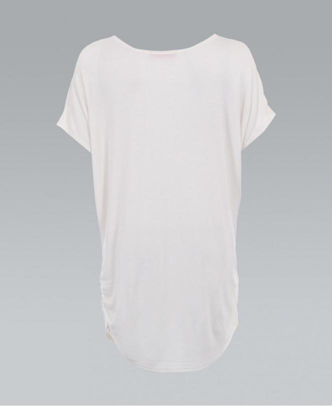 1f1188cb1 KRISP Cream Oversized Gold Foil Tiger Print Top T-shirt - Womens ...