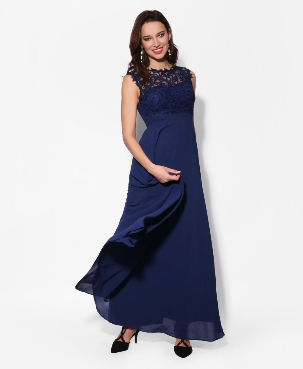 e904bec7 Maxi Dresses | Crochet Lace Chiffon Maxi Dress | KRISP