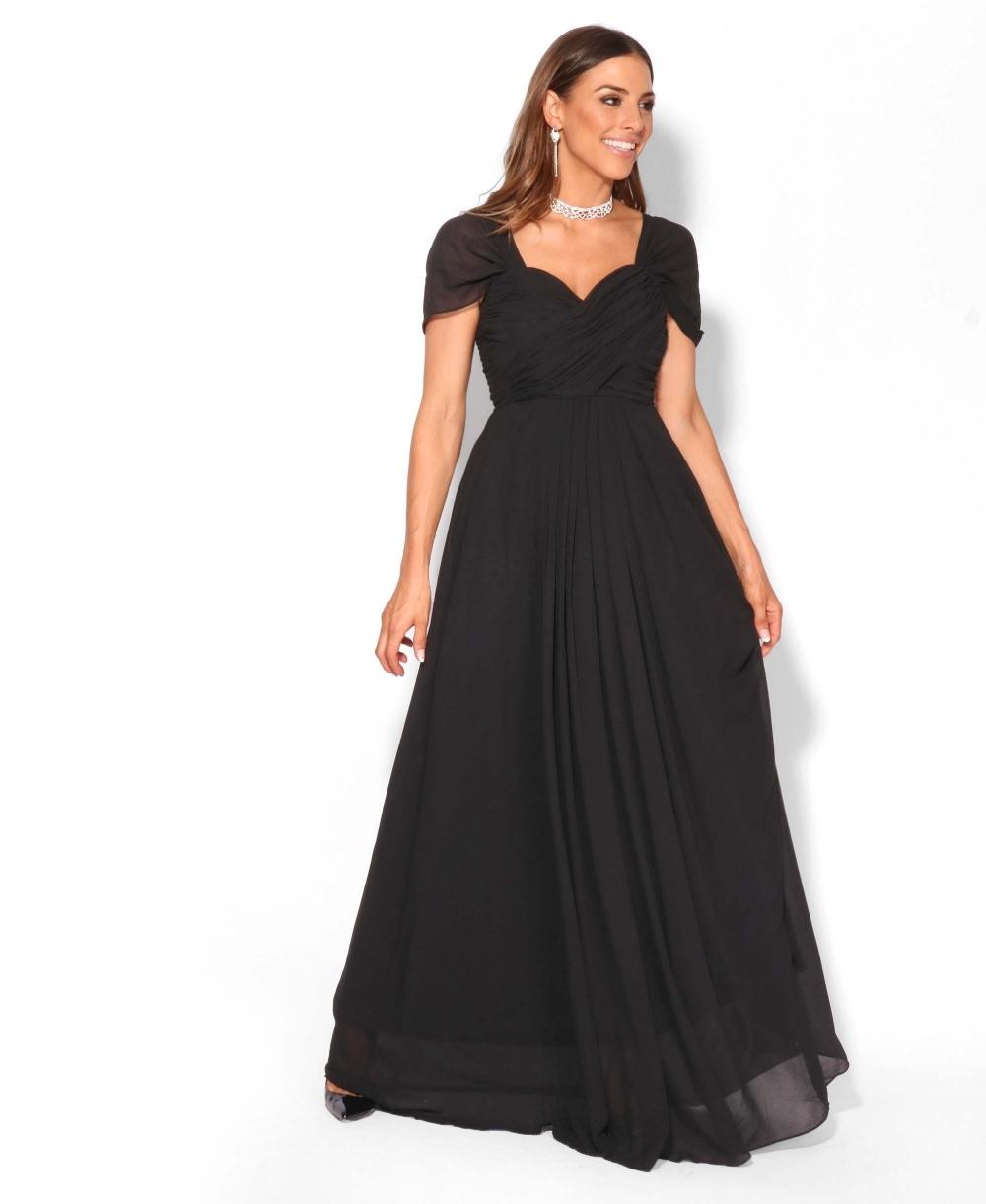 Dressing Gowns Uk: Cross Pleats Maxi Prom Dress