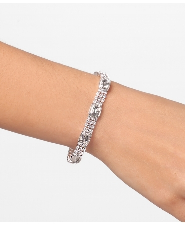 Crystal Diamante Slim Bangle