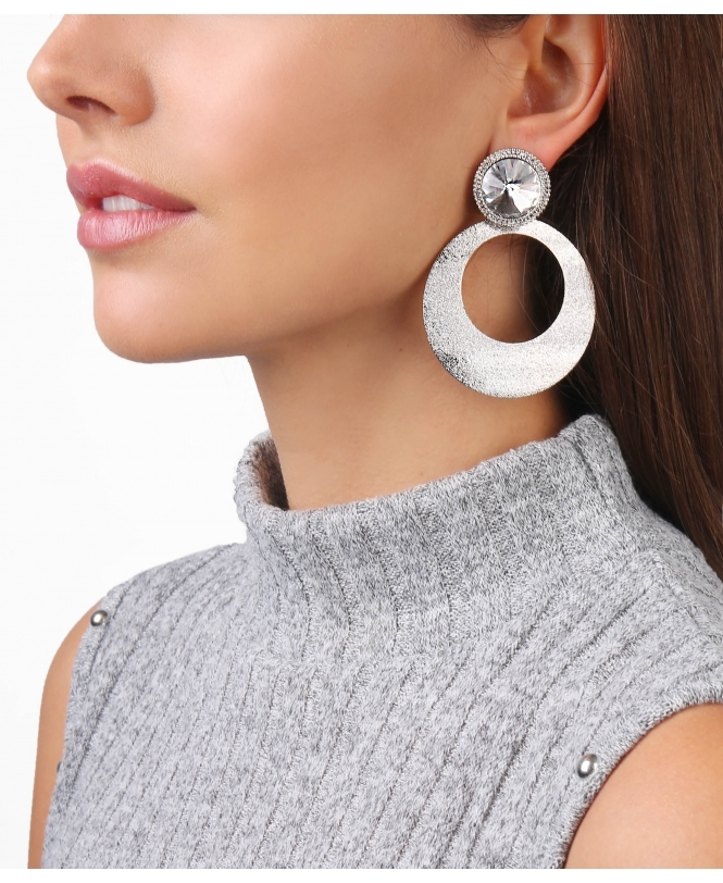 KRISP Crystal & Hoop Dangle Earrings