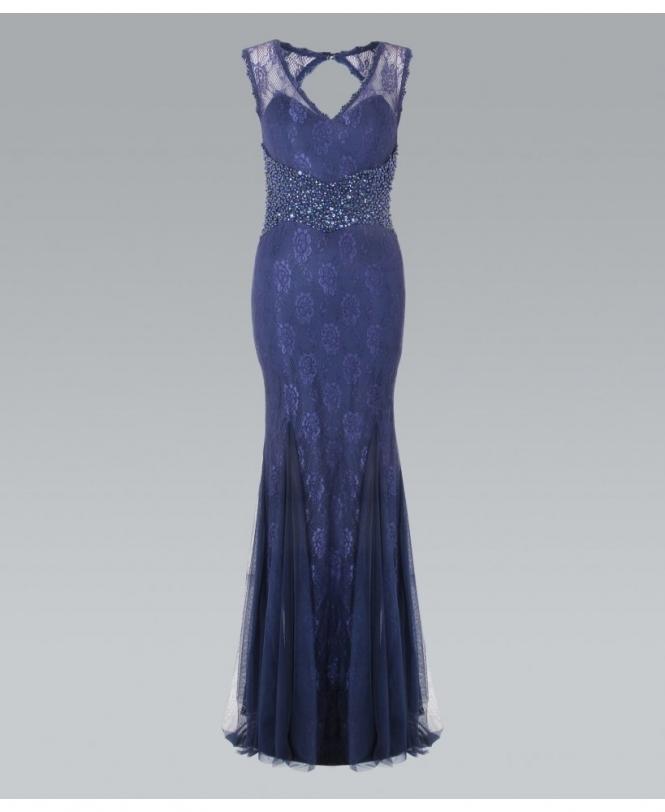 Krisp Cut Out Back Lace Maxi Dress