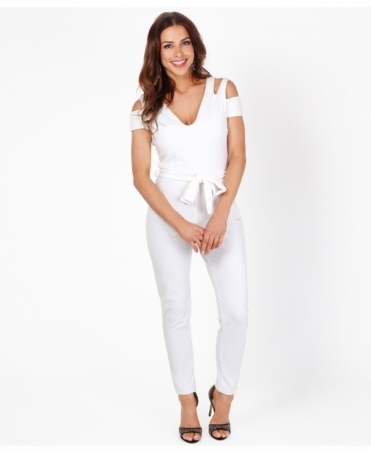Cut Out Shoulder Jumpsuit