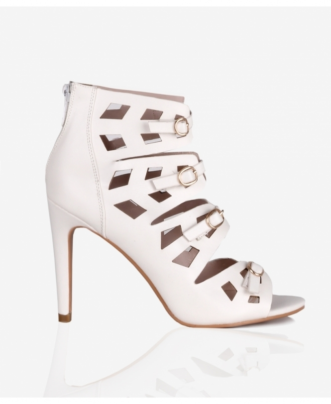 KRISP Cut Out Stiletto Ankle Boots