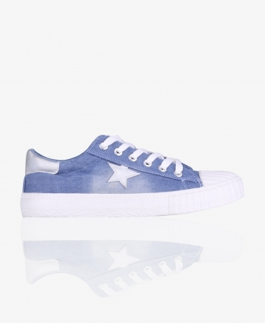 Denim Low Top Trainers with Star
