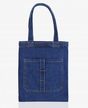 KRISP Denim Shopper Bag