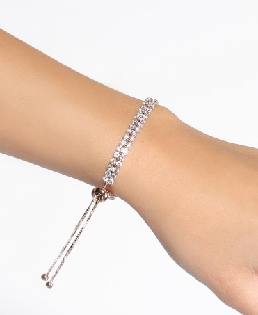 Diamante Adjustable Chain Bracelet