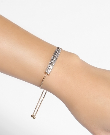 Diamante Bar Adjustable Bracelet