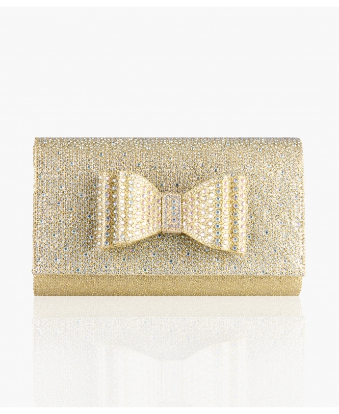 KRISP Diamante Bow Flap Clutch Bag