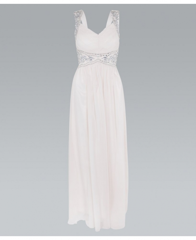 d11aa88cfeed KRISP Diamante Embellished Front Chiffon Maxi Dress - New In from ...