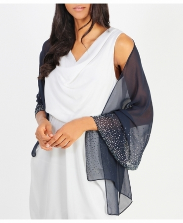 Diamante Embellished Occasion Scarf