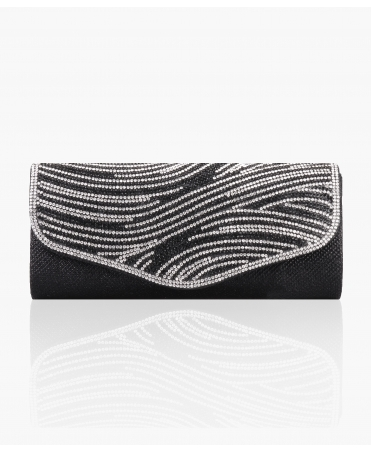 Diamante Flap Long Evening Clutch