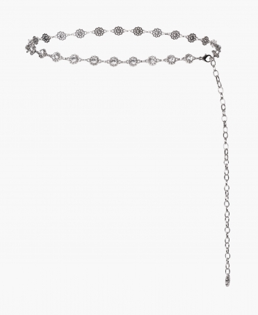 Diamante Flower Chain Belt