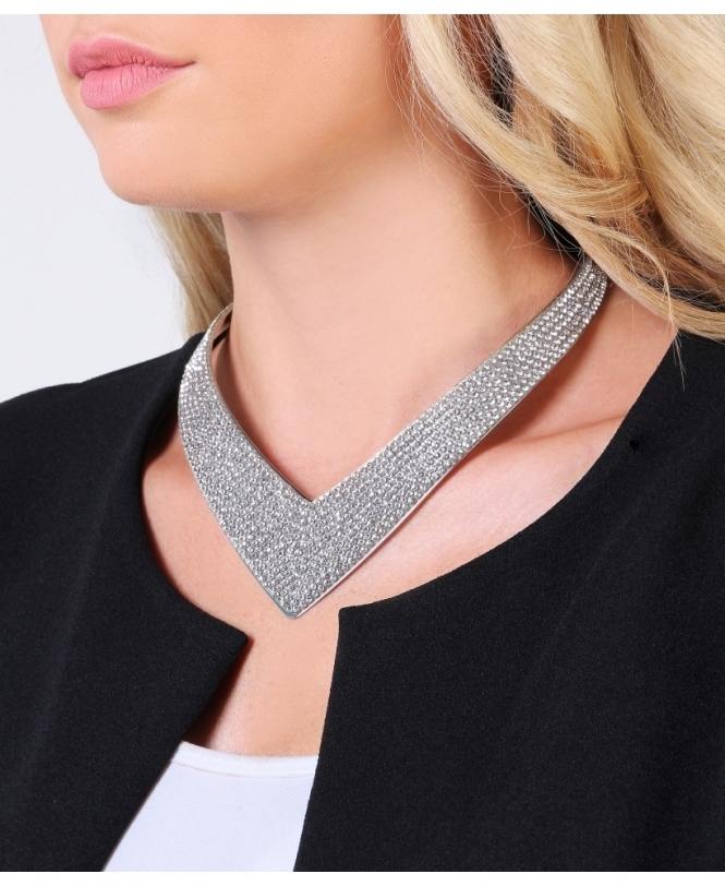 KRISP Diamante Point Collar Necklace