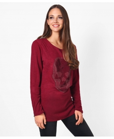 Diamante Skull Soft Knit Jumper