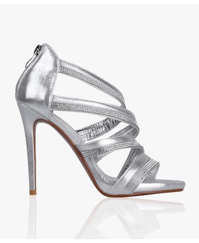 577843cc3e2 Diamante Strappy Prom Heels