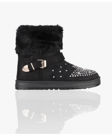 Diamante Toe Snug Ankle Boots