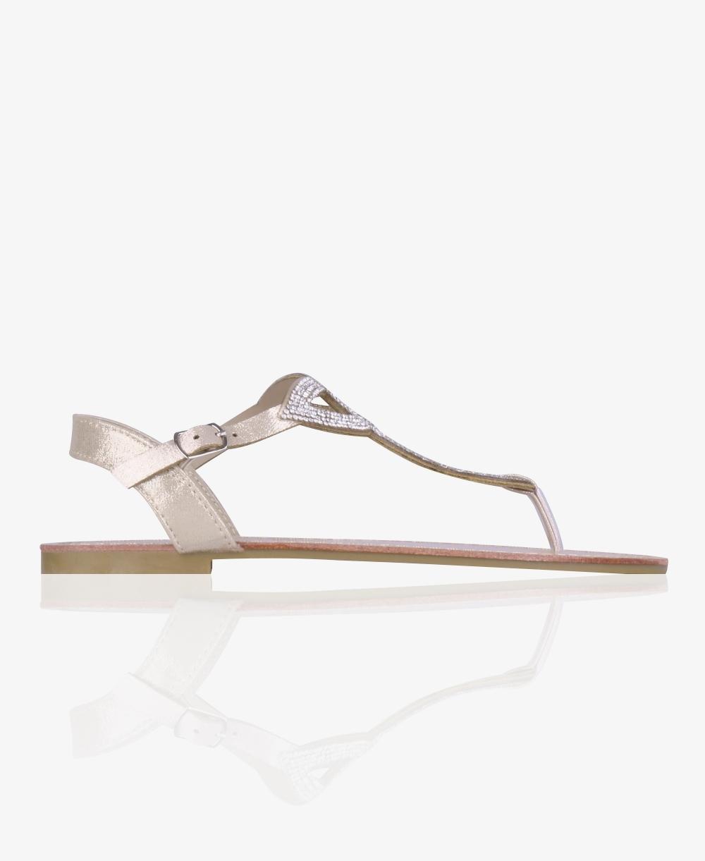 3e8b27152 Diamante Twist Flat T-Bar Sandals