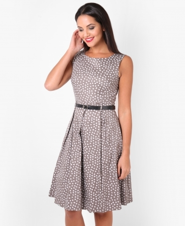 Ditsy Print Pin Up Dress