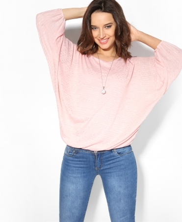 Dolman Top with Necklace