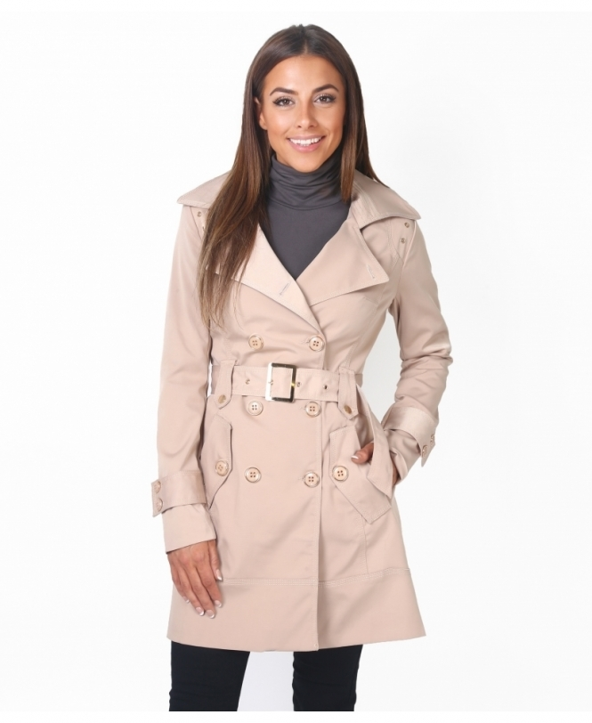 KRISP Double Breasted Trench Coat
