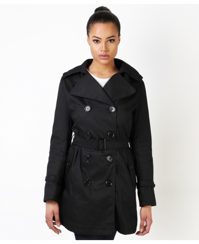KRISP Double Breasted Trench Mac Coat