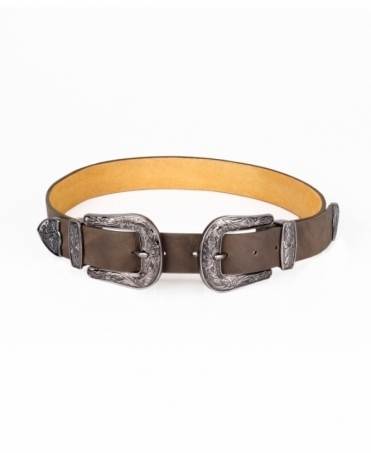 Double Buckle Western Belt