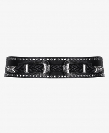 Double Buckle Western Cinch Belt