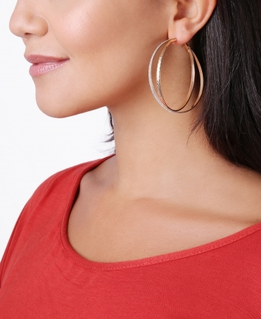 Double Loop Hoop Earrings