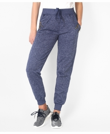 Double Zip Pockets Tracksuit Joggers
