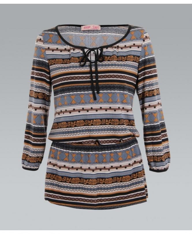 41c1045638f KRISP Drop Waist Aztec Tunic Top - Womens from Krisp Clothing UK