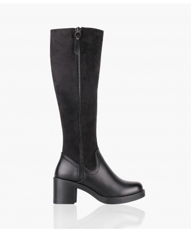 Duo-Texture Knee High Boots