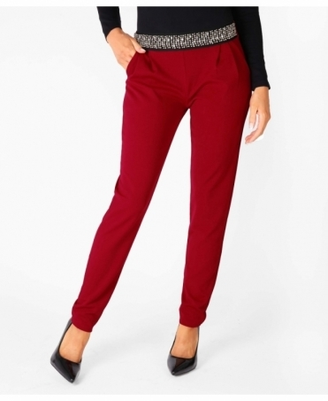 Embellished Waist Pencil Trousers