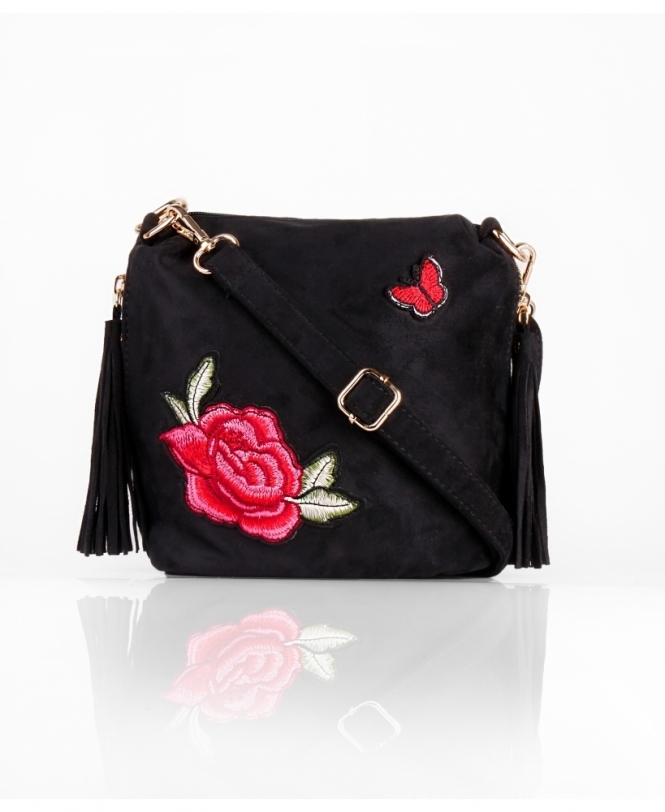 Embroidered Small Cross Body Bag