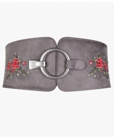 Embroidered & Studded Obi Belt