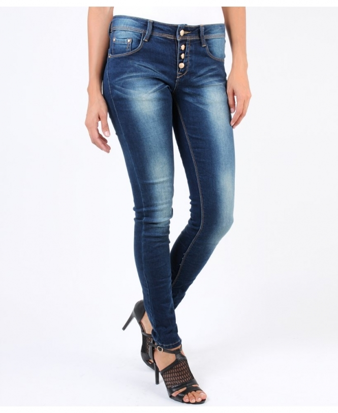 7780a126f3530 KRISP Exposed Button Fly Jeans - Womens from Krisp Clothing UK