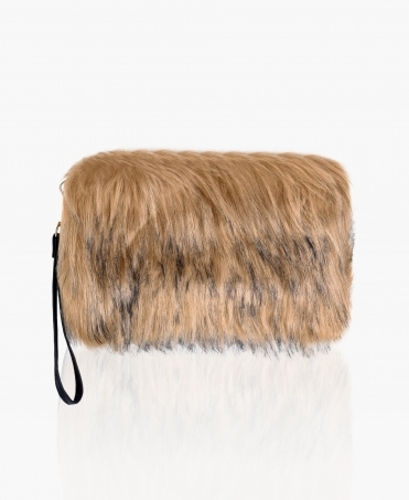 Faux Fur Wristlet Clutch