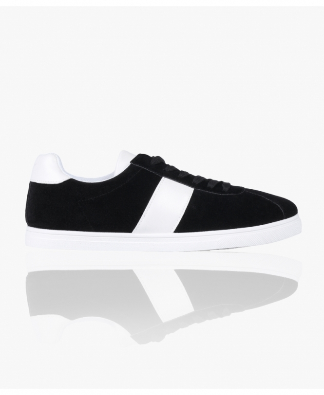 KRISP Faux Suede Old Skool Trainers
