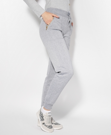 Fleece Lined Zip Pockets Joggers