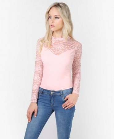 Floral Lace Panelled Bodysuit