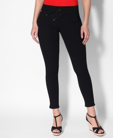 Foldover Waist Formal Trousers