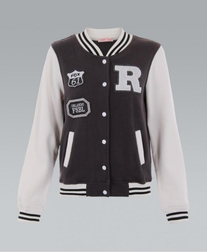 f69c107f974d KRISP  FOX 61  Hoodless Baseball Jacket - New In from Krisp Clothing UK
