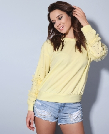 Frill & Pearl Sleeve Box Top
