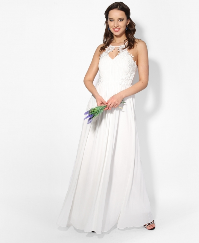 KRISP Front Split Chiffon Wedding Dress