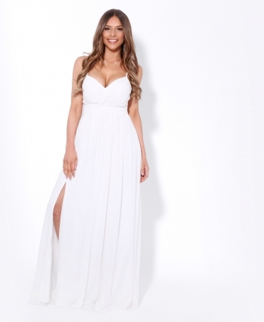 Front Split Strappy Maxi Dress