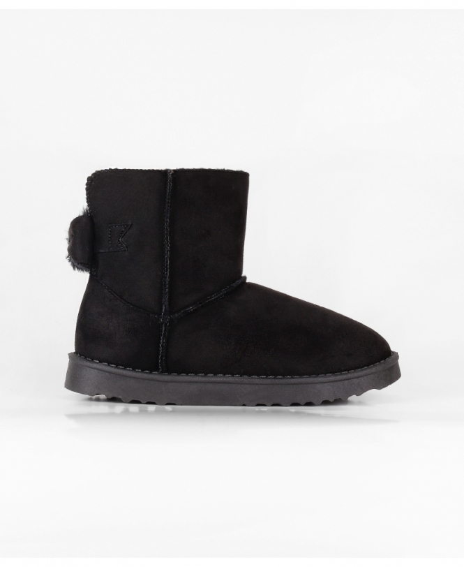 4bf1b823634 Fur Lined Bow Back Mini Boots