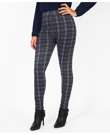 Fur Lined Check Leggings